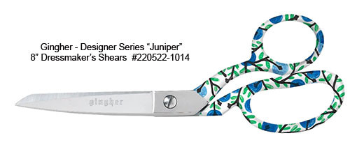 "Gingher 2019 Designer Series Juniper - 8"" Dressmaker Shears"