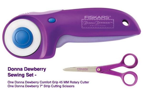 "Donna Dewberry - Fiskars 45MM Rotary Cutter & 7"" Scissor Set"