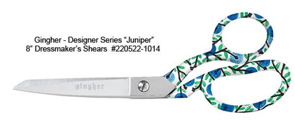 """Gingher 2019 Designer Series Juniper - 8"""" Dressmaker Shears"""