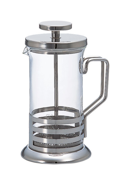 French Press - or Cafetiere - is a great addition for your home set-up. The easiest brewed coffee you can make. This high quality Hario French Press is great value for money.