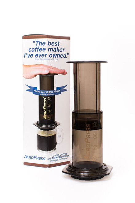The AeroPress is a great purchase for any home brewer. Reasonable price, sturdy, and with great results. Although not quite espresso, you can play with recipes to give you what you want from your brewed coffee. All you need is high quality coffee beans to go with it!