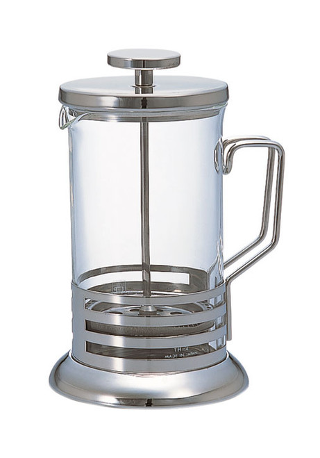 French Press - or Cafetiere - is a great easy-to-use and simple piece for your home set-up. The easiest brewed coffee you can make, with the least effort required. This high quality Hario French Press is great value for money, and comfortably makes enough coffee for 2-3 generous cups.