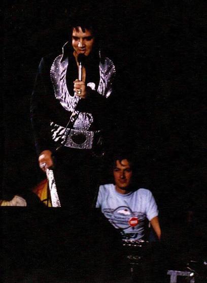 Bruce Jackson and Elvis Presley.