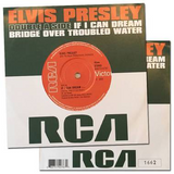 Elvis If I Can Dream / Bridge Over Troubled Water 45 RPM Vinyl Single (Elvis Presley)