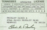 Elvis Presley Drivers License (March 1977)