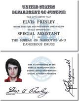 Elvis Presley DEA Credentials 2 Individual Cards (Laminated)