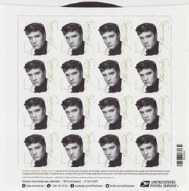 'Forever Elvis' Stamp sheet of 16