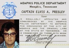 Captain Elvis Presley Memphis Police Department I.D