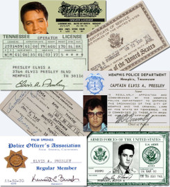 Elvis Presley I.D. Card Collection (7 Individual Cards)