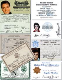 Elvis Presley I.D. + DEA Card Collection (9 Individual Cards)