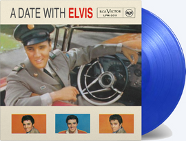 'A Date With Elvis' individually numbered transparent blue vinyl
