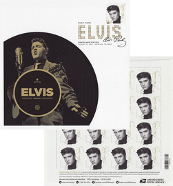 Deal : 8 x 8-inch 'Forever Elvis' cachet (Deluxe First Day Cover) + 2015 Elvis Forever Stamp sheet of 16