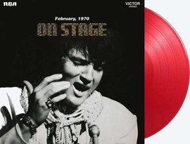 'Elvis On Stage' LP Record | 2500 copies Limited Edition Red Vinyl