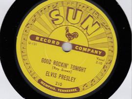 "Black | Elvis: Good Rockin' Tonight / I Don't Care If The Sun Don't Shine 10"" Vinyl | Elvis Presley"