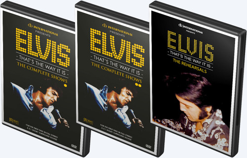 Elvis: That's the Way It Is | The Complete Shows 4 DVD Set (with The Rehearsals 2 DVD Set)