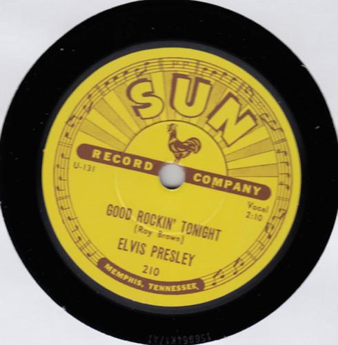 "Black   Elvis: Good Rockin' Tonight / I Don't Care If The Sun Don't Shine 10"" Vinyl   Elvis Presley"