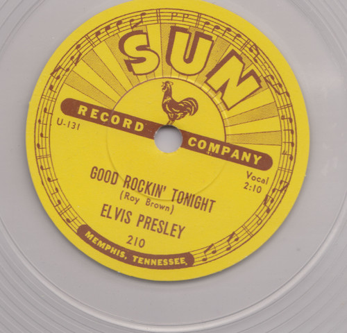 "Clear   Elvis: Good Rockin' Tonight / I Don't Care If The Sun Don't Shine 10"" Vinyl   Elvis Presley"