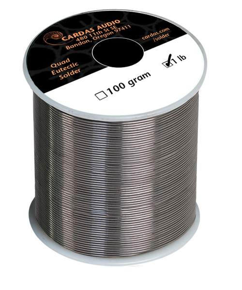 Cardas Quad Eutectic Silver Solder with rosin flux 1 lbs (450g)
