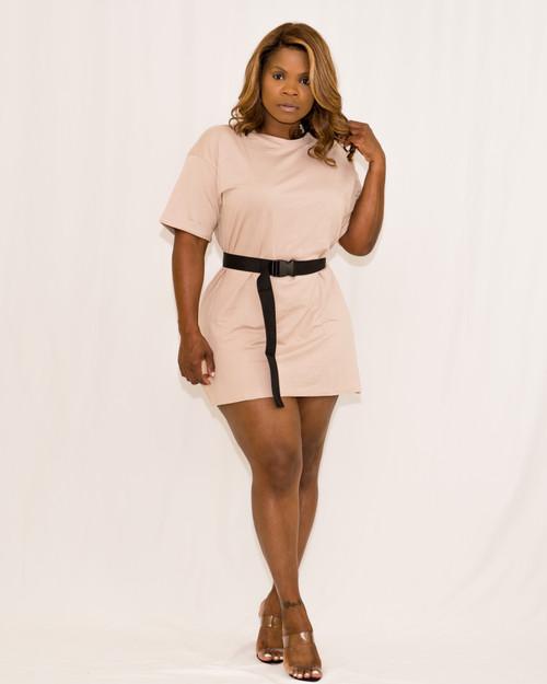 NOT SO BASIC || TEE Dress w/ Belt