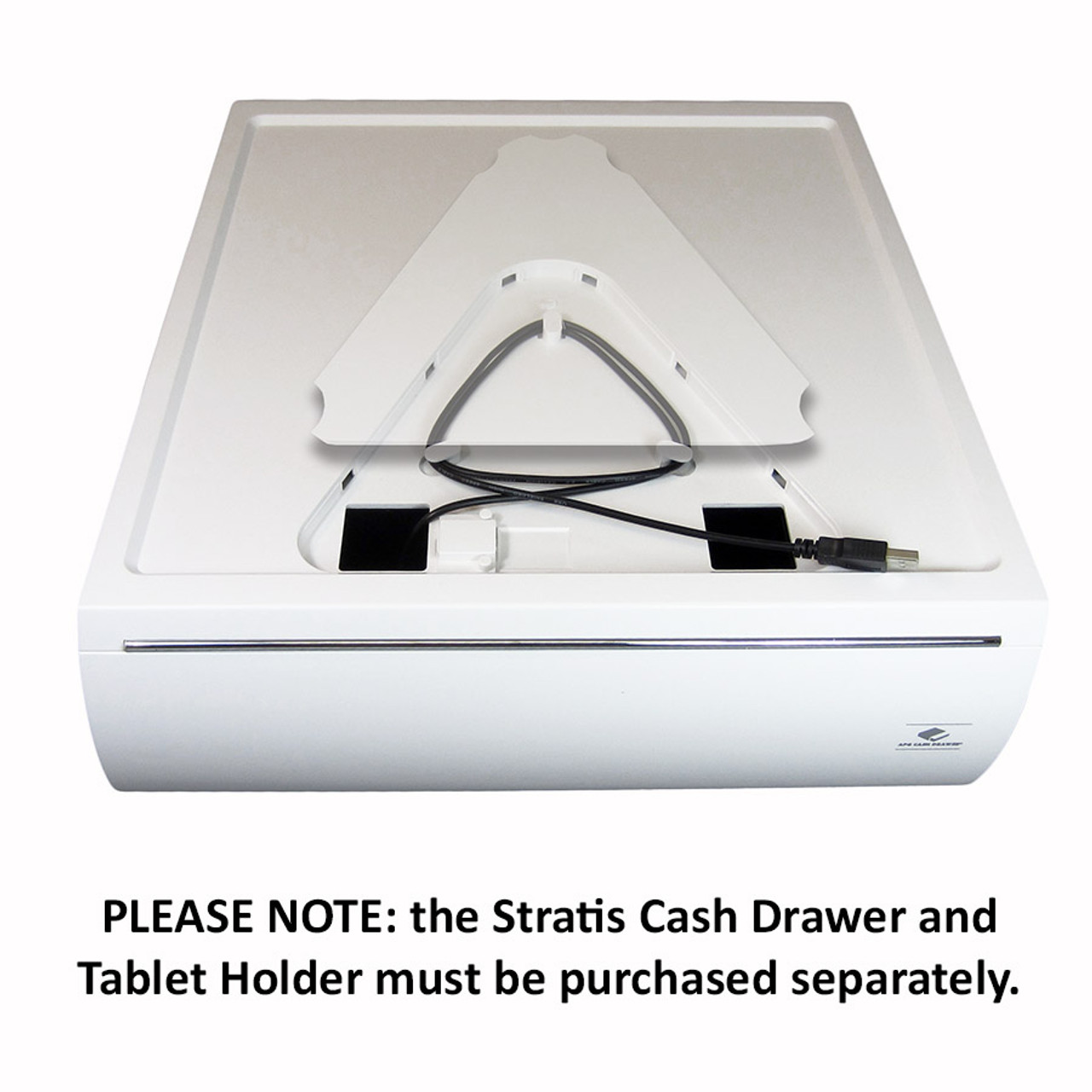 APG Stratis Series Cash Drawer, White