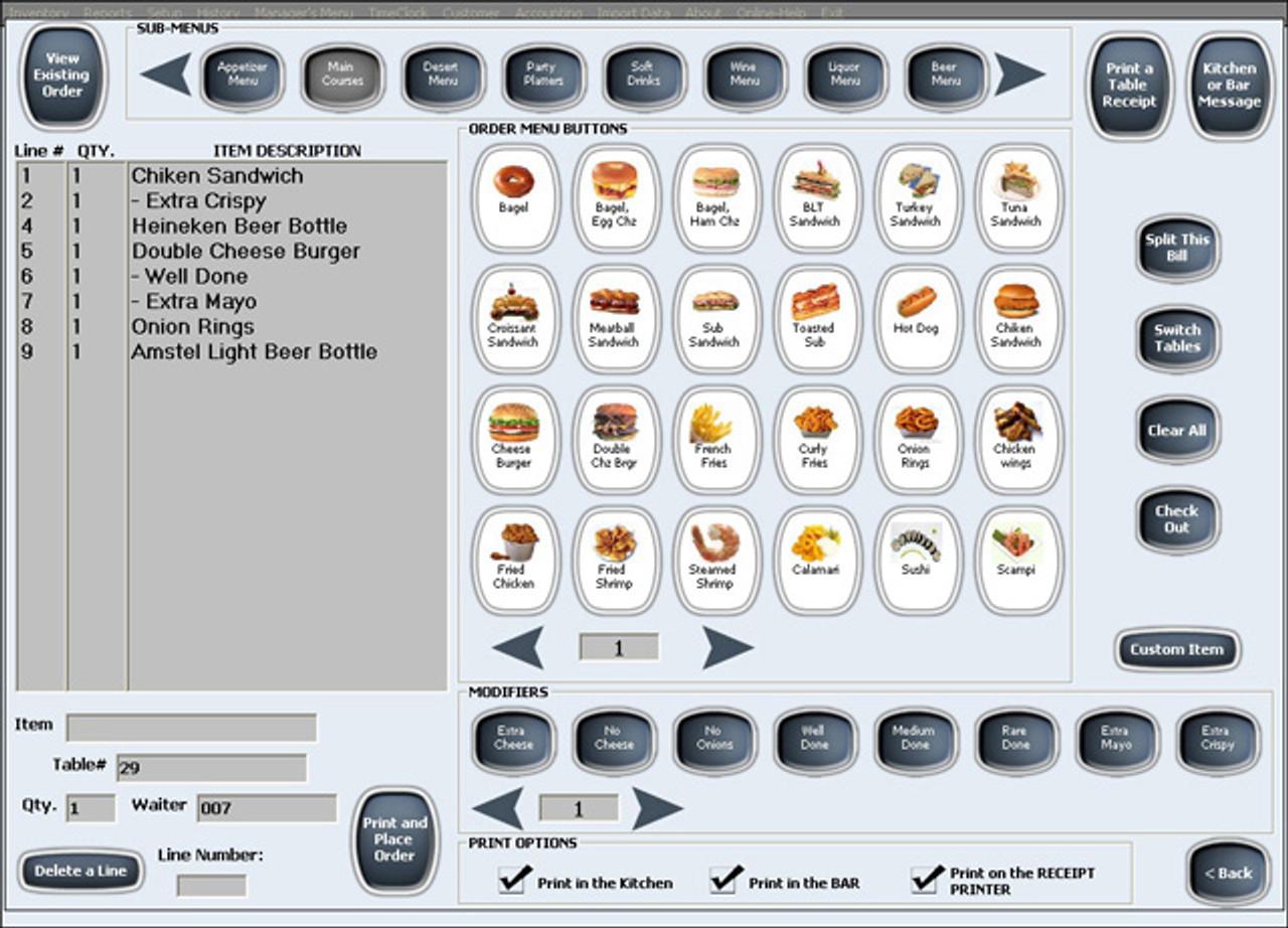 Alexandria Restaurant Maid POS Software