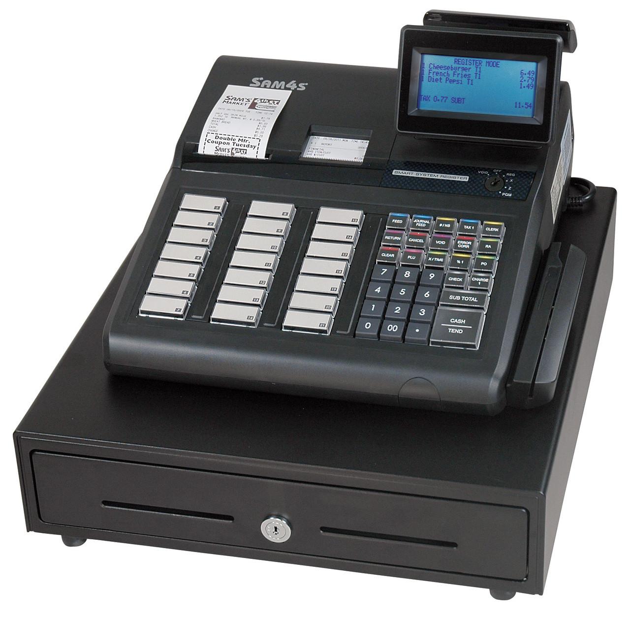 SAM4s SPS-345 Retail Cash Register *Shown with Optional MSR*