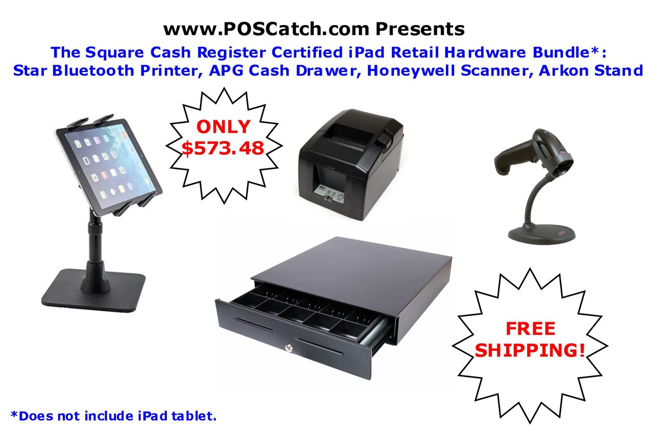Square Cash Register Retail Hardware Bundle **DOES NOT INCLUDE TABLET**