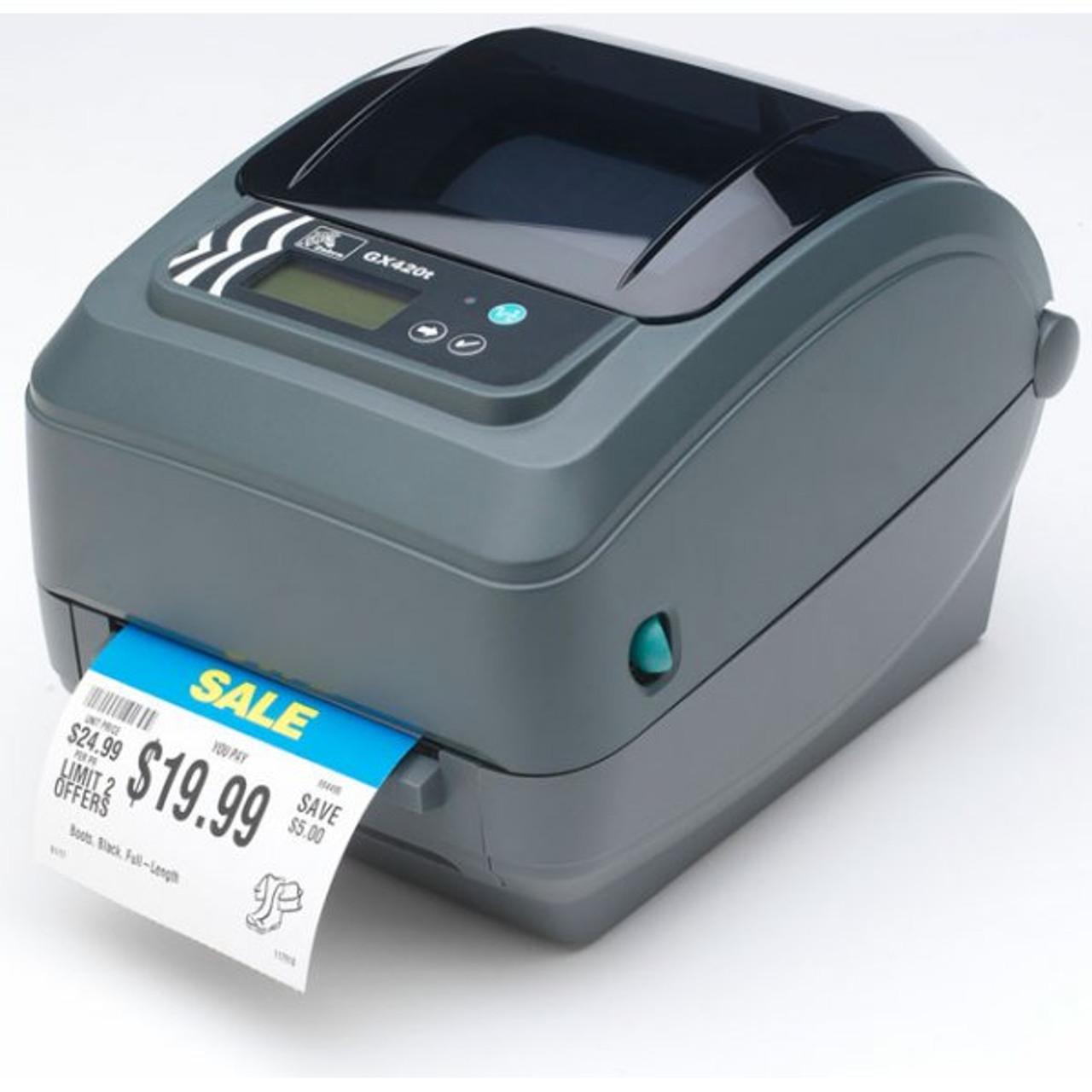 Zebra GX420t 4 Inch POS Barcode Label Printer