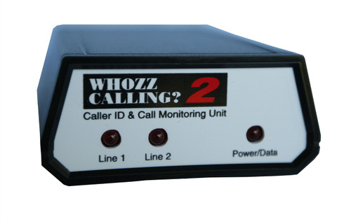 Whozz 2 Line Caller ID Box for PC America