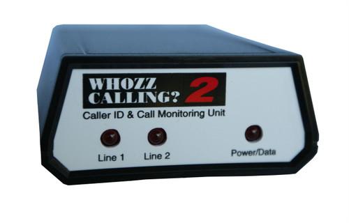 Whozz 2 Line Caller ID Box for PC America
