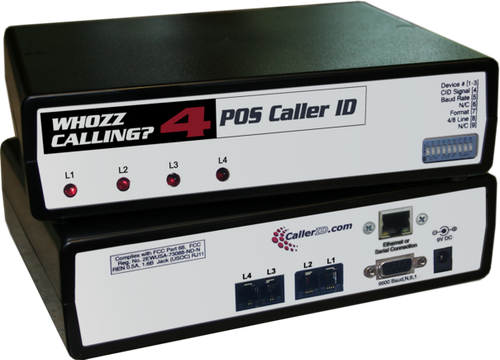 Whozz 4 Line Caller ID Box for Aldelo Restaurant POS