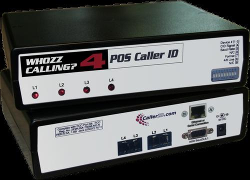 Whozz 4 Line Caller ID Box for Aldelo Restaurant POS