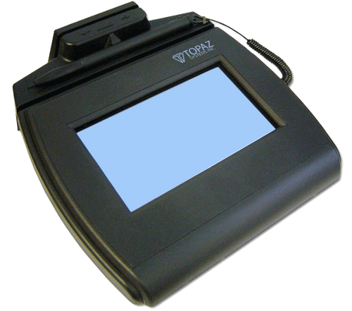 Topaz SigLite 4x3 Signature Capture Pad with MSR