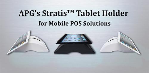 APG Stratis Tablet POS Stand, Black