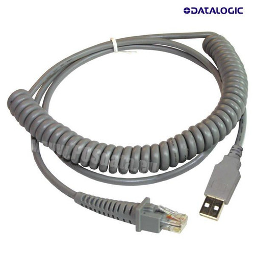 Datalogic Gryphon I GD4100 Scanner USB Coiled Cable