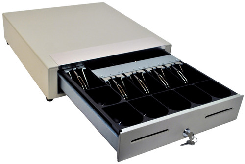 MS Cash Drawer EP-107N2 with Media Slots, White