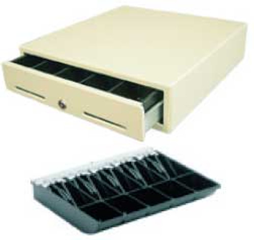 MS Cash Drawer J-423, White Color