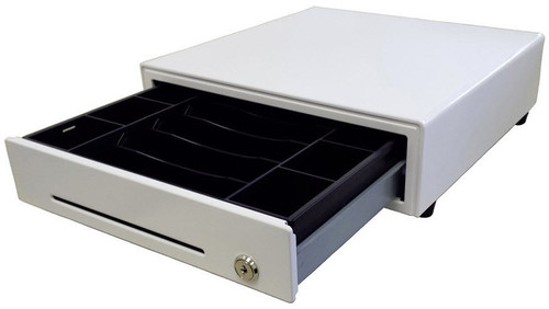 "MS Cash Drawer EP-1313 Series Cash Drawer, ""Apple White"" Color"