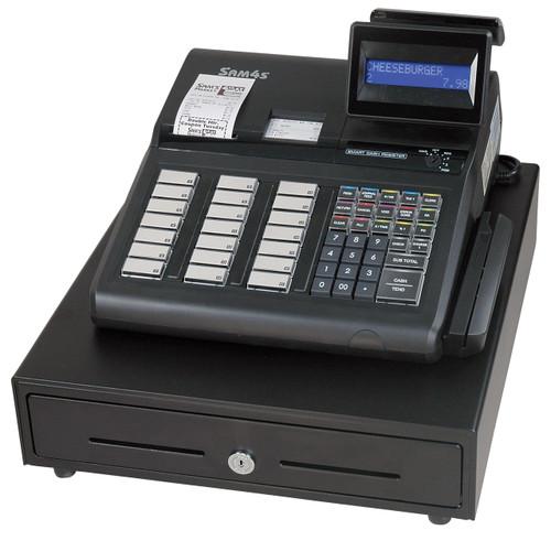 SAM4s ER-945 Cash Register.  **Photo Shows Optional MSR/Card Reader**