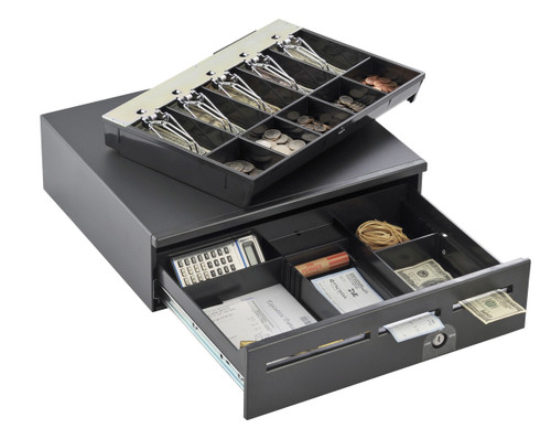 "MMF Media Plus POS Cash Drawer, 17""x18"", 3 Media Slots, NO BELL, BLACK COLOR, 226-12518137204"