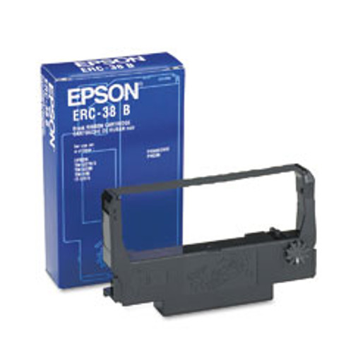 EPSON, ERC-38B, RECEIPT PRINTER BLACK INK RIBBON