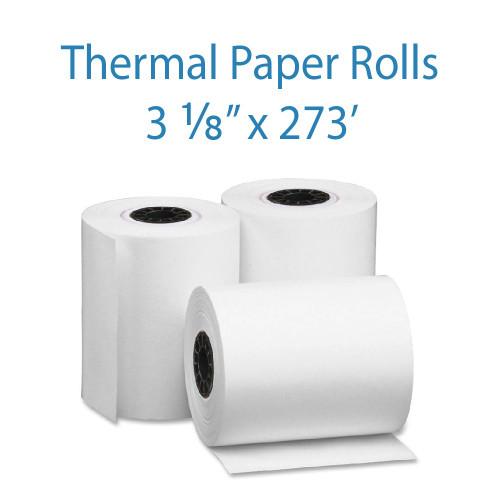 "3-1/8"" Wide x 273 Feet Long Thermal Receipt Paper"