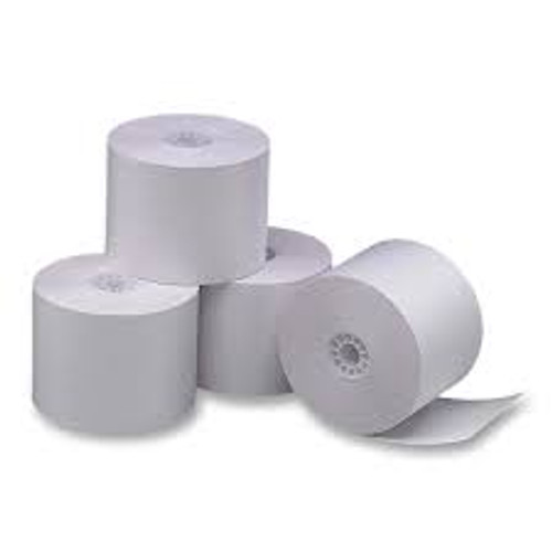 "3"" Wide x 165 Feet Long 1-Ply Dot Matrix/Impact Receipt Paper Rolls, 50 Rolls Per Case"