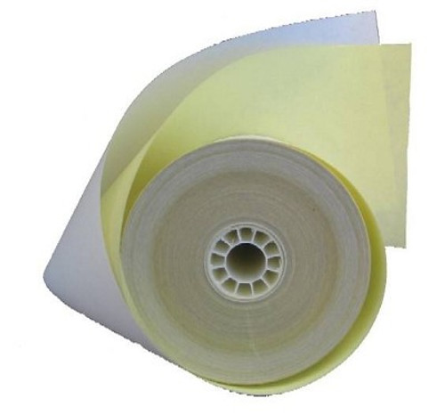 "3"" Wide x 100 Feet Long 2-Ply Dot Matrix/ImpactReceipt Paper Rolls, 50 Rolls Per Case, Part #18-235"