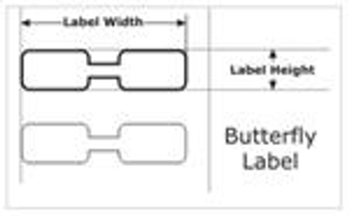 COGNITIVE, 03-02-1649, BUTTERFLY BARCODE LABEL
