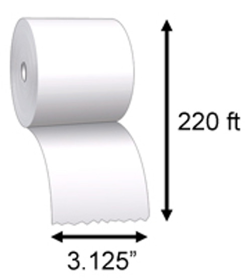 "Direct Thermal Receipt Paper 3 1/8"" X 220'"