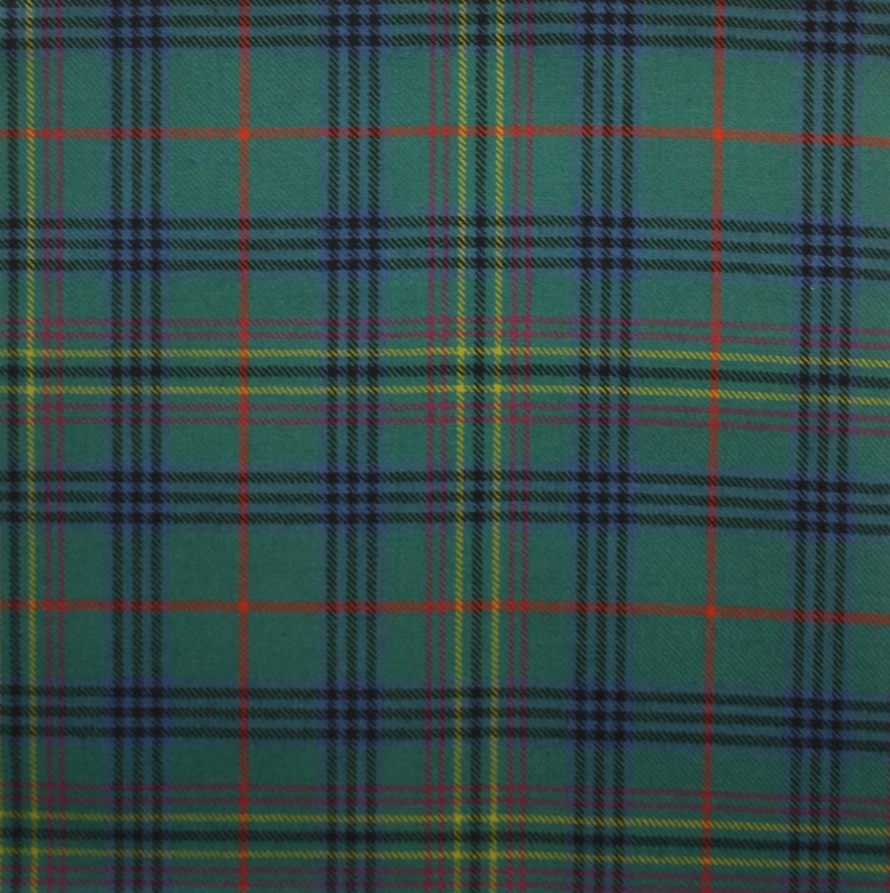 Lambswool Scottish Kennedy Modern Tartan Clan Scarf Gift
