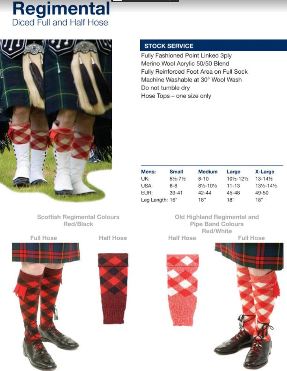 Kilt Hose Tops,Various Hose Tops,Highland Thistle Hose Tops