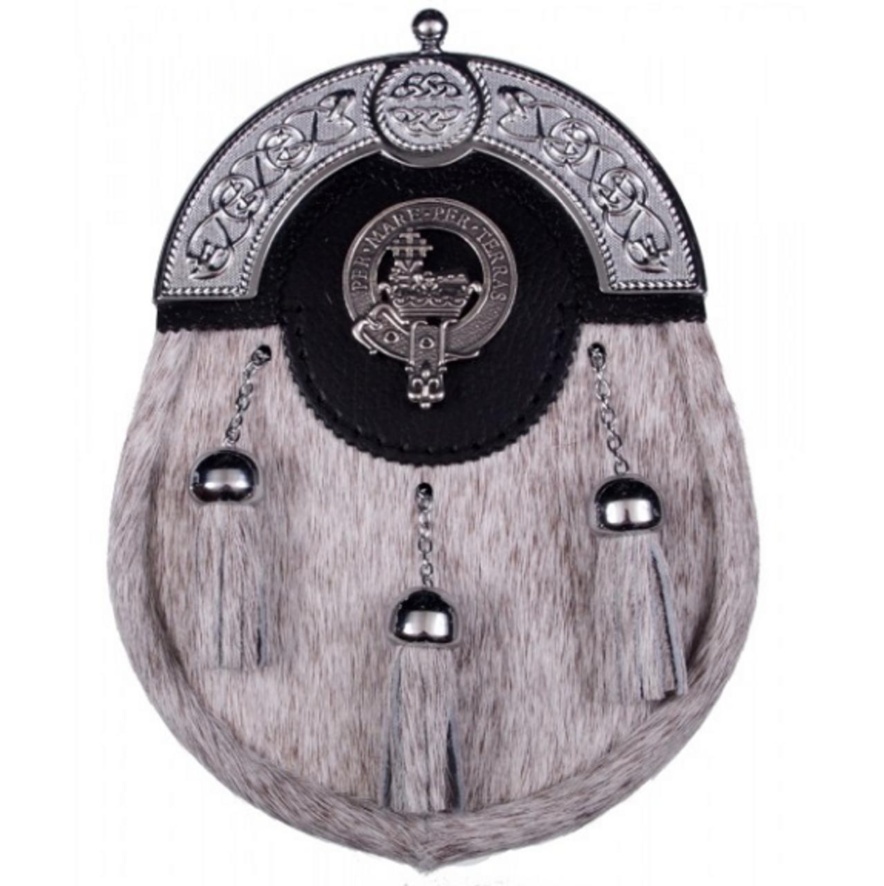 Tweedie Scottish Clan Crest Badge Dress Fur Sporran