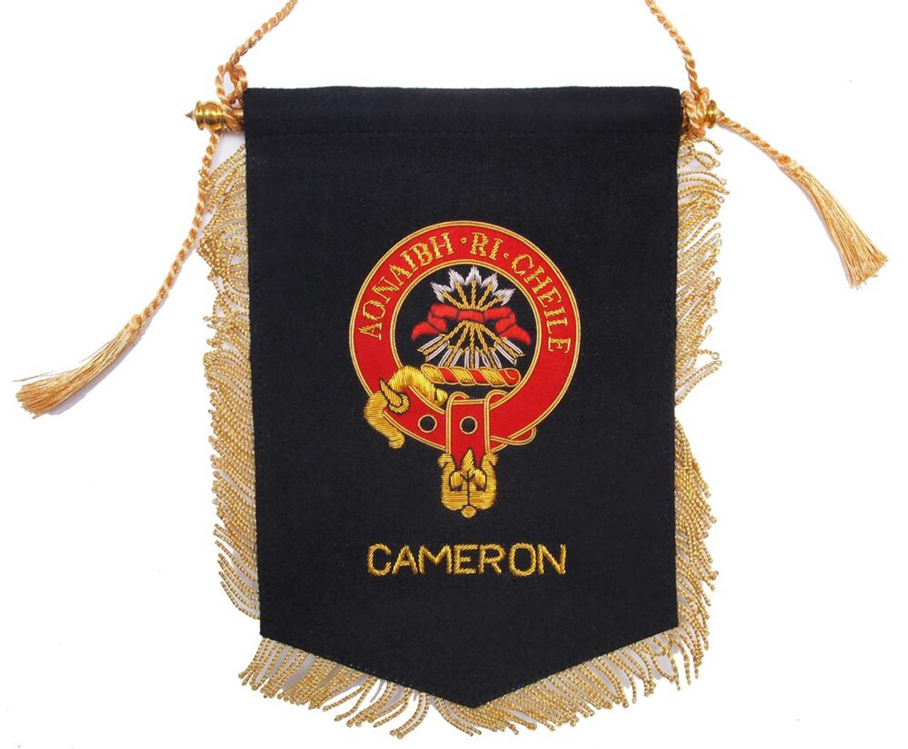 "CAMERON Clan Badge 2/"" Scottish NEW Scotland Crest Pin Badge"